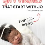 Unique Girl Names Starting with Jo