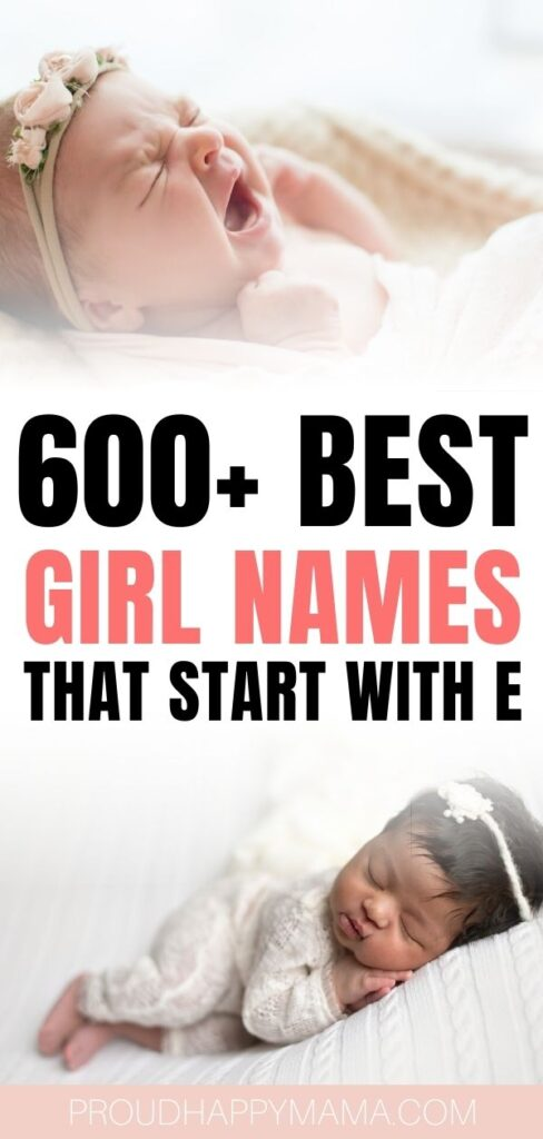 Unique Girl Names That Start With E